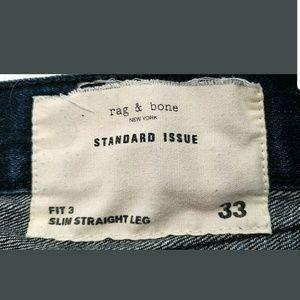rag & bone Jeans - Rag & Bone Mens Jeans Fit 3 Slim Straight Leg Dark